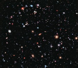 Deep field image of galaxies.