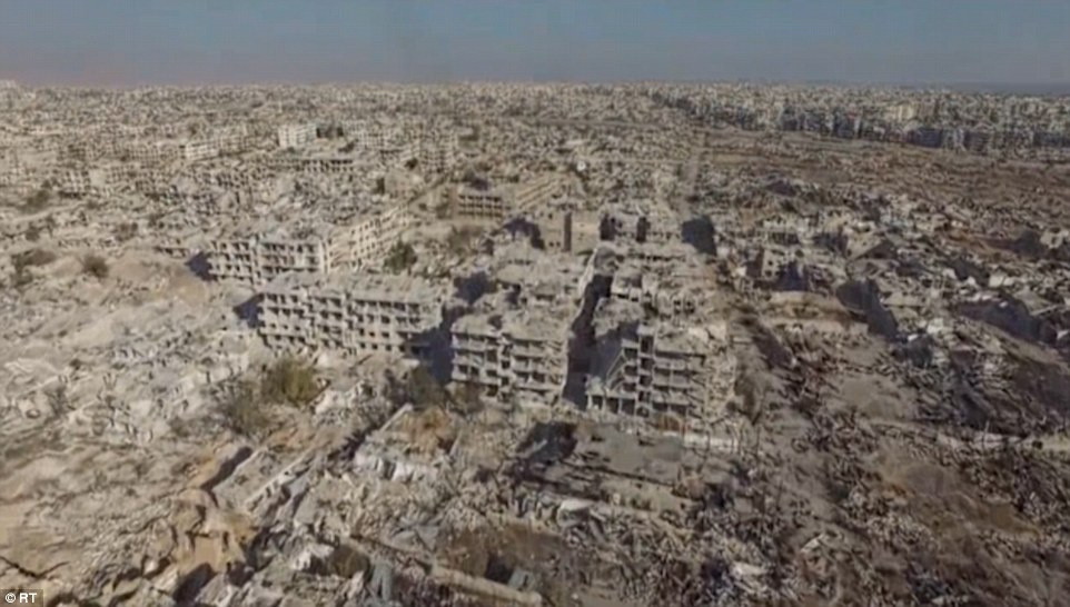 Image result for destruction of Damascus 2017