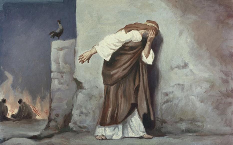 Peter denying Jesus