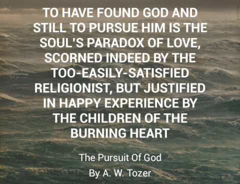 The Pursuit of God – A W Tozer