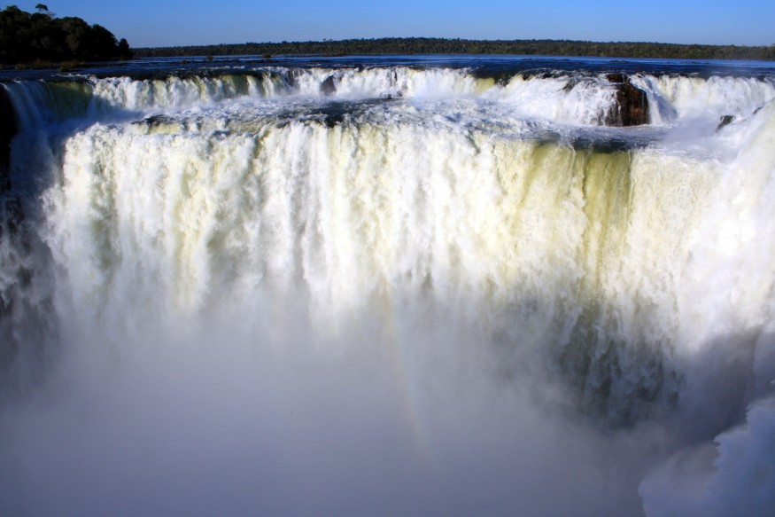Union Falls Iguacu River Brazil and Argentina