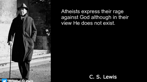 Atheists express their rage against God