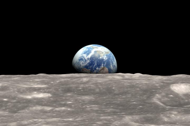 Earth rise Apollo 8 color